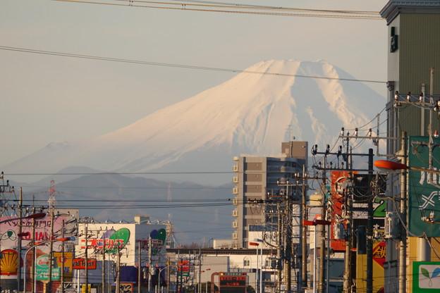 初日の出を浴びる地元初富士