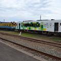 写真: なかなか乗れない由利高原鉄道おばこ号@矢島駅