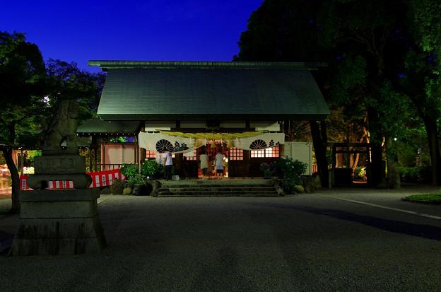 夜の紫陽花神社(1)