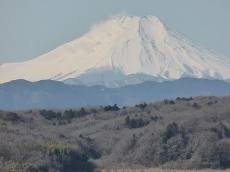 富士山の煙