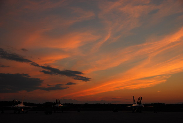 The Thunderbirds in the Sunset 8-24-12