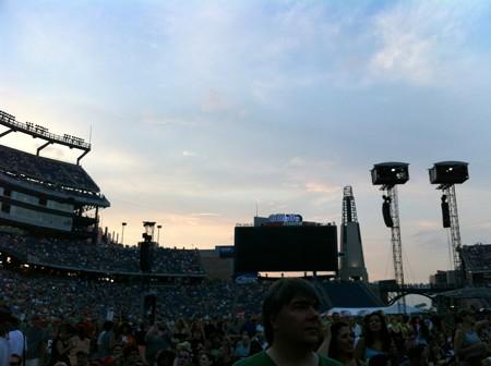 The Sunset over Gillette Stadium 7-20-13