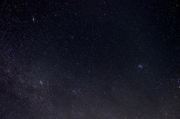 アンドロメダ銀河、さんかく座銀河、すばる、カリフォルニア星雲等