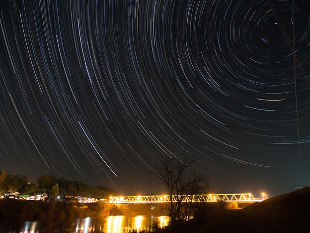 宮城県登米市の星景