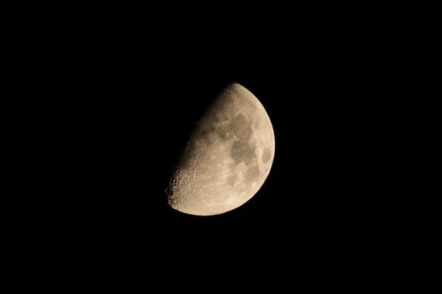 9月29日埼玉県さいたま市から見た月