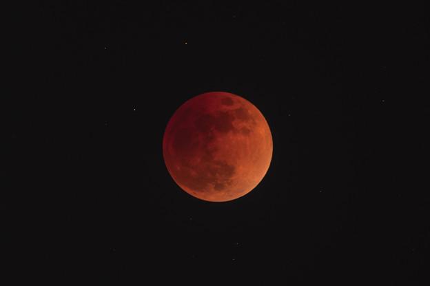 2018年1月31日の皆既月食(トリミング)