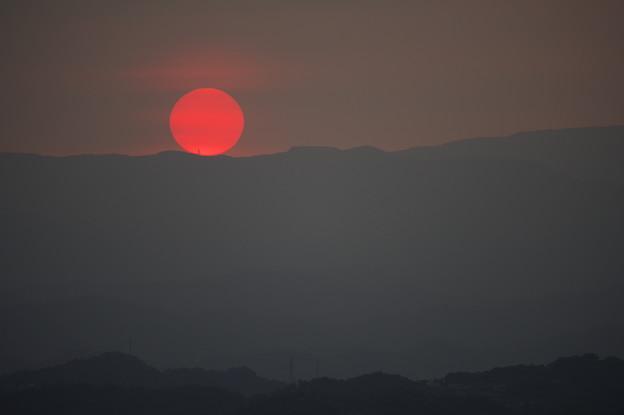 写真: 九份の夕日