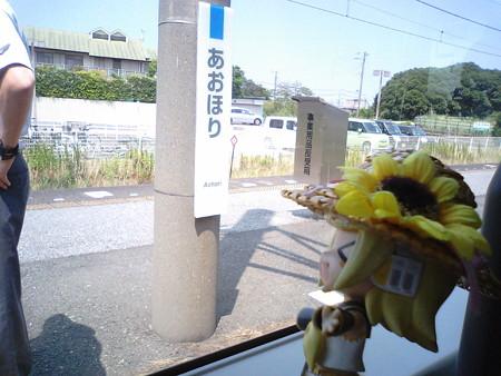 君津駅で3分停車して、青堀駅でさらに6分停車。 リン:「ホントに...