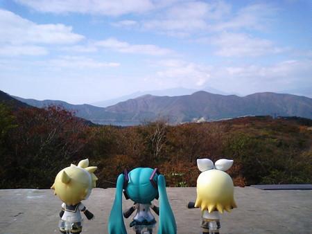 ミク:「わぁー、芦ノ湖が見えますよ!!」 リン:「ゼッケーかなゼ...