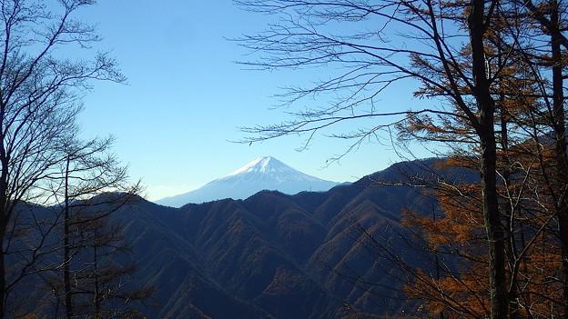 131123 鶴寝山山頂からの富士山