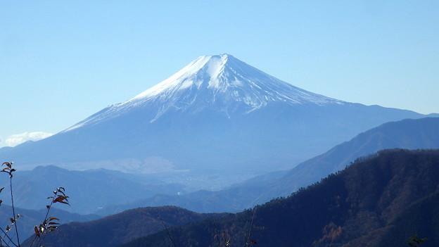 131123 奈良倉山山頂からの富士山