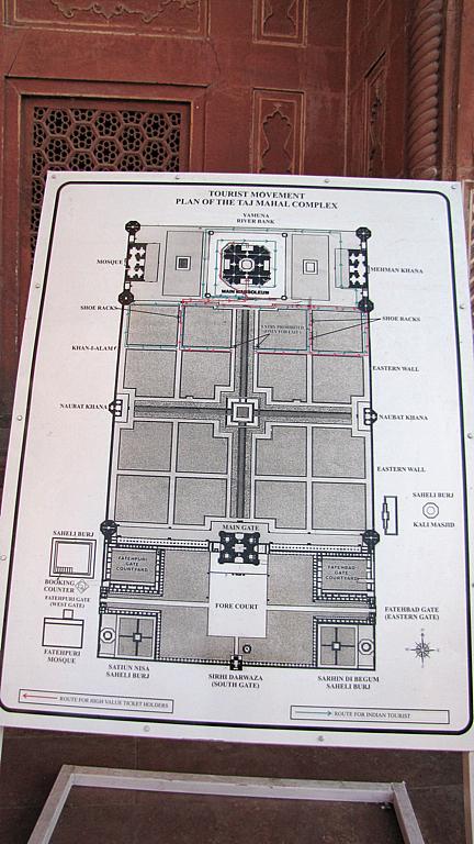 Taj Mahal案内図