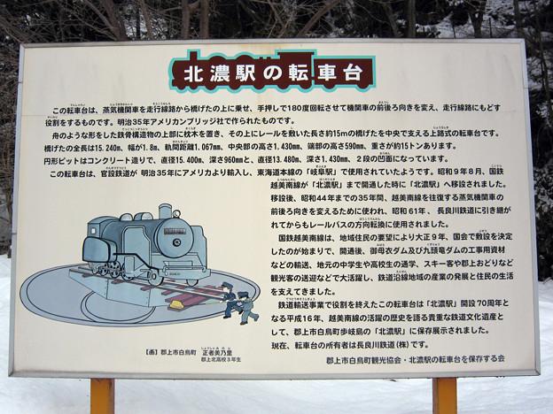 北濃駅転車台説明