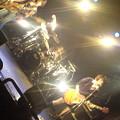 写真: ドラムお父さん。 ベース息子さん(明日卒業式の小学生)。 ギターボーカ...