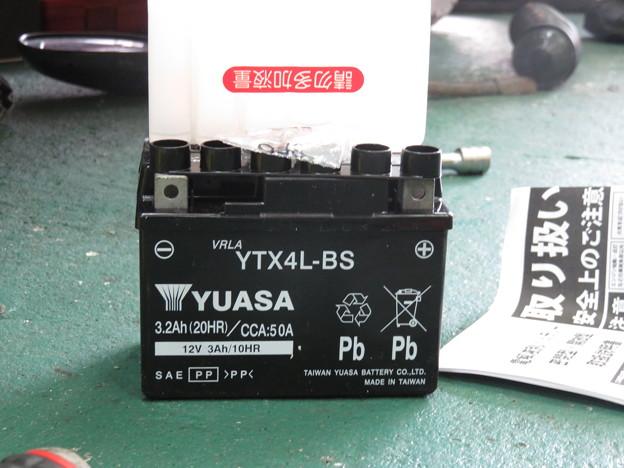 バッテリー交換 台湾のYUASA