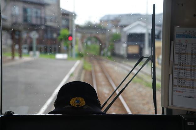 三国港駅 運転席から_02