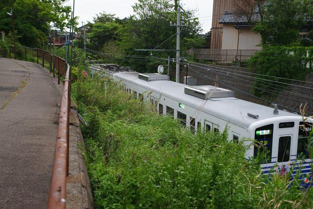眼鏡橋をくぐる電車_04