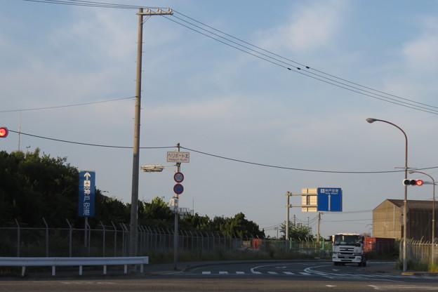神戸空港へ 道路標識_01