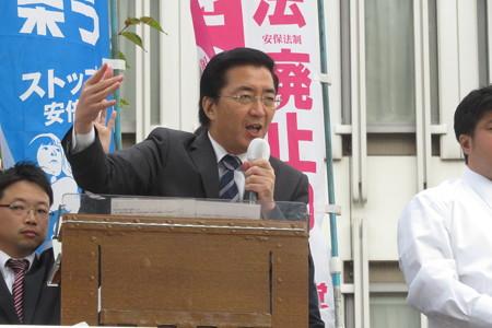 大丸前 山下よしき党副委員長訴え