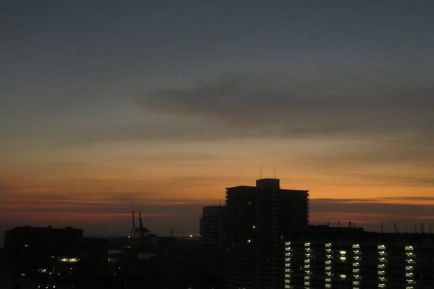ポートアイランドの朝焼け_01