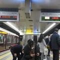 写真: 高速神戸駅 阪神阪急同時到着_03