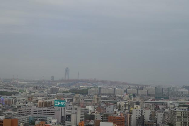 通天閣 4Fからの展望 港大橋
