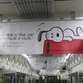 写真: スヌーピー 阪急電車の車内広告_02