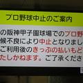 Photos: 甲子園球場 中止