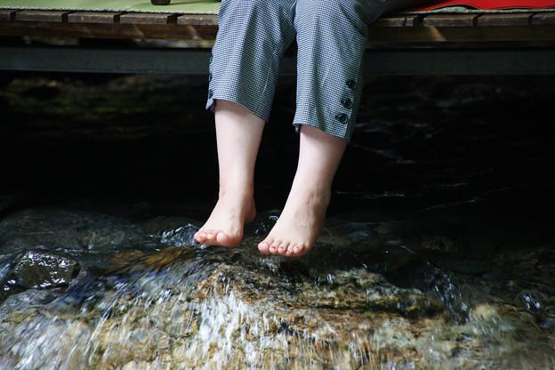 貴船茶屋 川床に浸かる