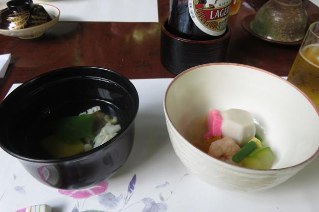 貴船茶屋 鱧の吸い物と煮物
