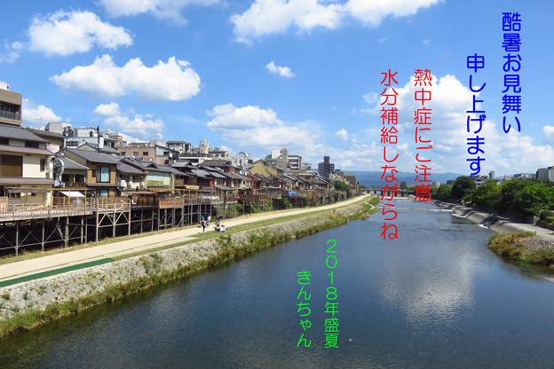 酷暑お見舞い 京都鴨川河畔