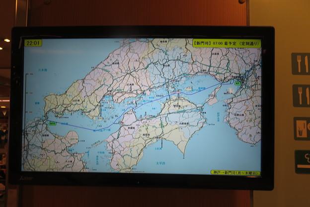 阪九フェリー 航路表示