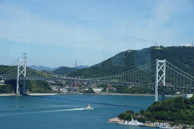 空から 関門海峡大橋