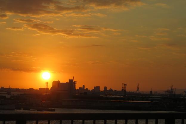 Photos: 神戸大橋の朝日_03