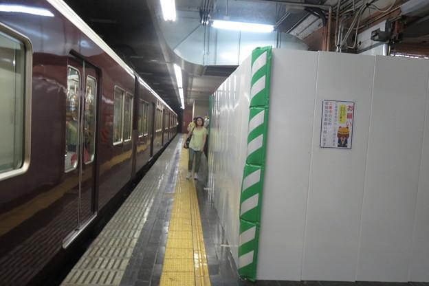 花隈駅 上りホームの工事_02