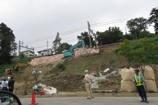 神戸電鉄 土砂崩れ復旧工事_02