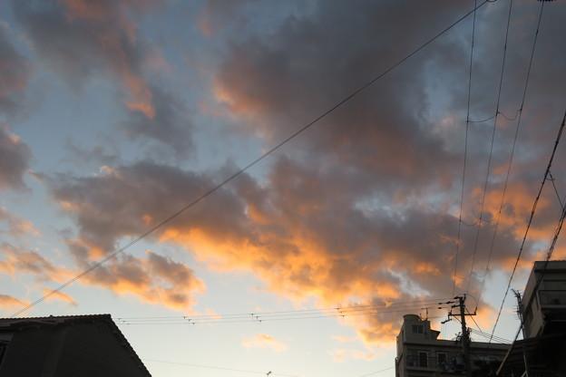湊山温泉の夕焼け_02