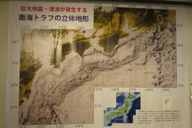 巨大地震・津波が発生する南海トラフの立体地形