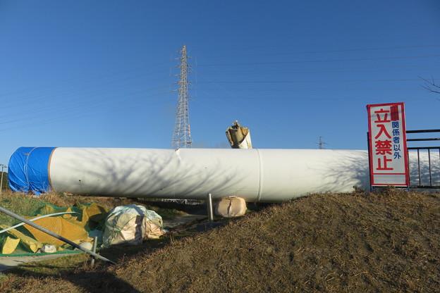 北淡町 倒れた風力発電の風車_01