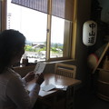 Photos: 行き 恵那峡SA 中山道を書く
