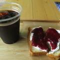 Photos: トースト&ジャムとアイスコーヒ