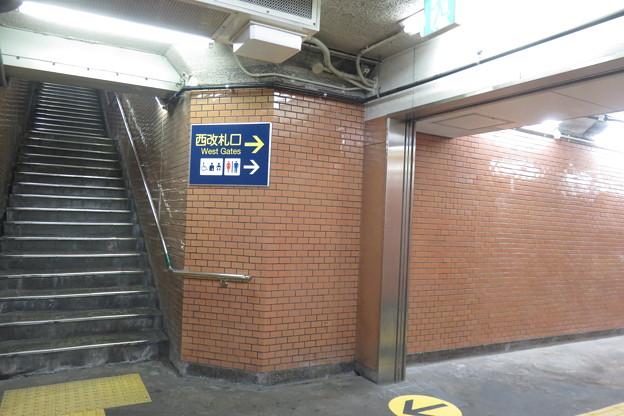 花隈駅下りホーム 階段
