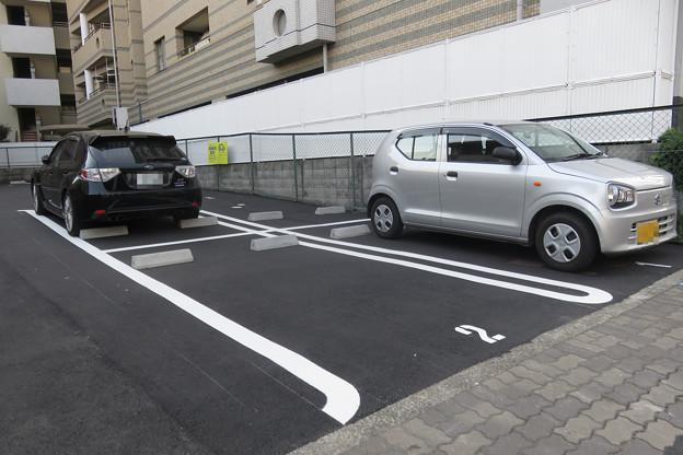 平面駐車場に停める