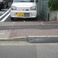 Photos: 平面駐車場 入口の段差