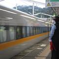 Photos: 新岩国駅 ホームで駅員さん_07