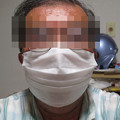 Photos: 不織布マスク装着