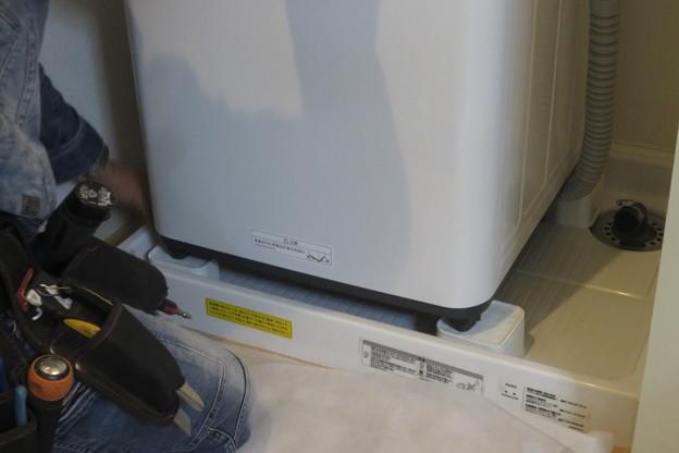 名谷団地 洗濯機の設置作業