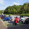 衝原湖パーキングのバイク_01