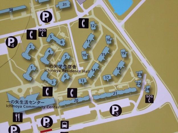 一の矢学生宿舎マップ