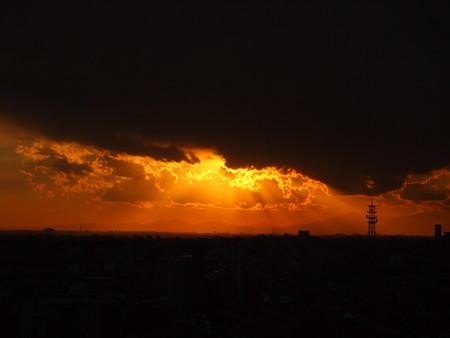 2012年最後の夕日